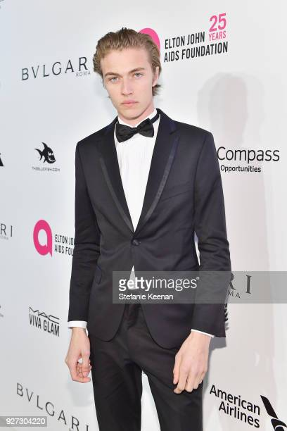 Lucky Blue Smith attends the 26th annual Elton John AIDS Foundation Academy Awards Viewing Party sponsored by Bulgari celebrating EJAF and the 90th...