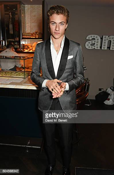 Lucky Blue Smith attends the London Collections Men AW16 closing dinner hosted by GQ editor Dylan Jones and LCM Ambassadors at Sartoria on January 11...