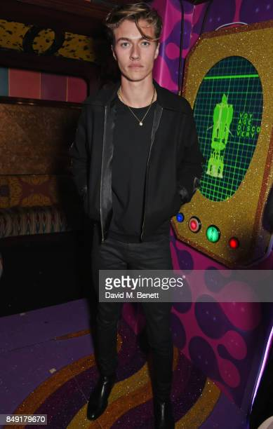 Lucky Blue Smith attends the LOVE magazine x Miu Miu party held during London Fashion Week at Loulou's on September 18 2017 in London England