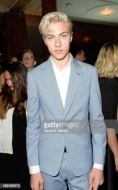 Lucky Blue Smith attends the The Business Of Fashion #BoF500 Gala Dinner Party at The London EDITION Hotel on September 21 2015 in London England