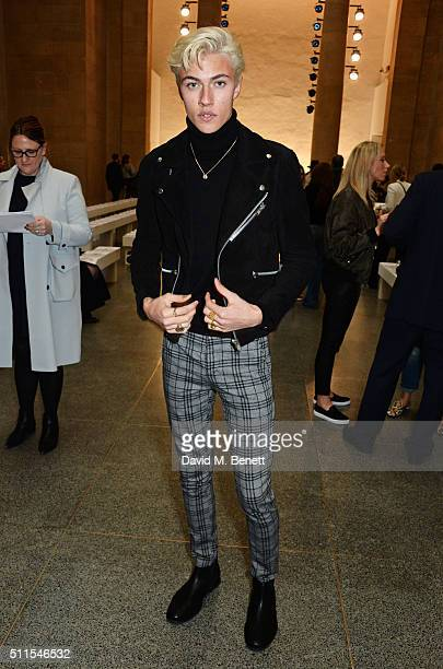 Lucky Blue Smith attends the Topshop Unique at The Tate Britain on February 21 2016 in London England