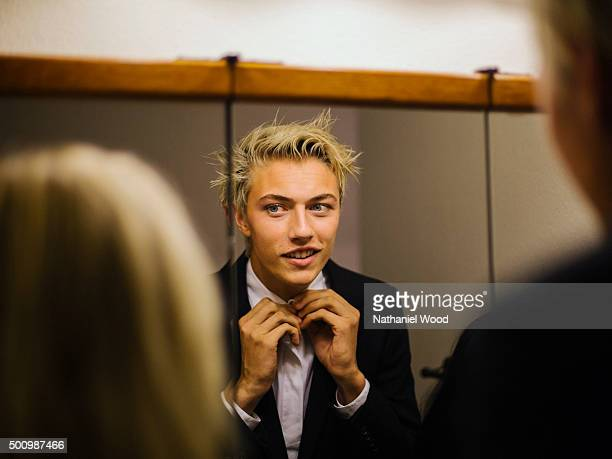 Lucky Blue Smith is photographed for Teen Vogue Magazine on October 2 2015 in Los Angeles California