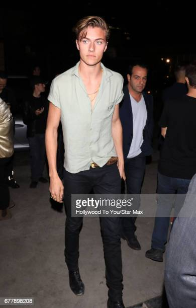 Lucky Blue Smith is seen on May 2 2017 in Los Angeles California