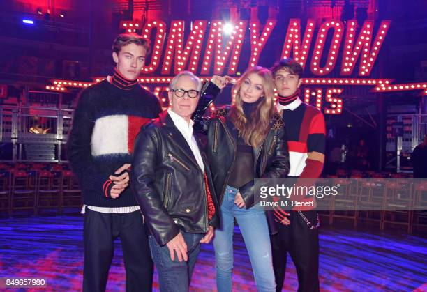 Lucky Blue Smith Tommy Hilfiger Gigi Hadid and Anwar Hadid attend the Tommy Hilfiger TOMMYNOW Fall 2017 Show during London Fashion Week September...