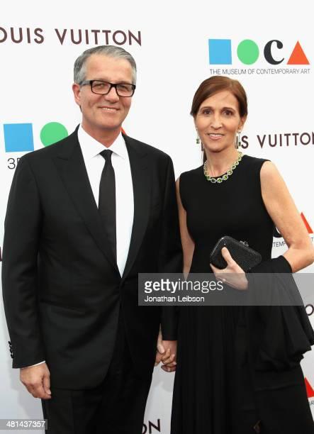 Lucky Brand CEO Carlos Alberini and Andrea Alberini attend MOCA's 35th Anniversary Gala presented by Louis Vuitton at The Geffen Contemporary at MOCA...