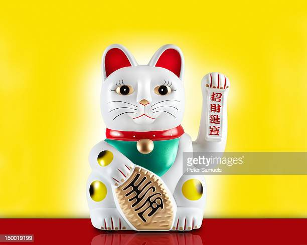 lucky cat or maneki-neko - luck stock pictures, royalty-free photos & images