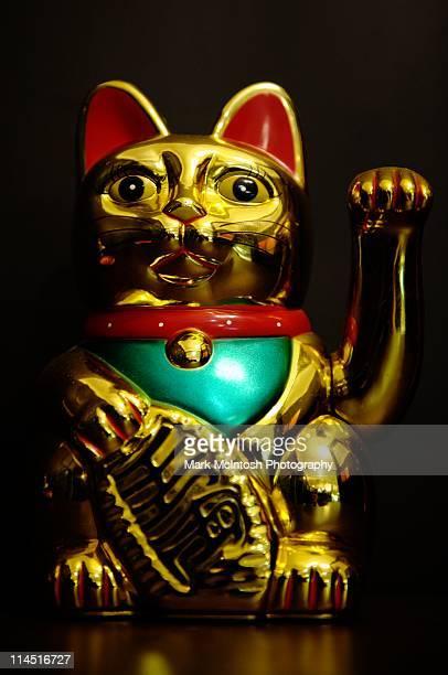 lucky cat - maneki neko stock photos and pictures