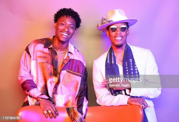 Lucky Daye and Raphael Saadiq pose for a portrait during the BET Awards 2019 at Microsoft Theater on June 23 2019 in Los Angeles California