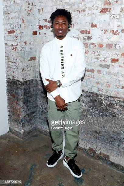 Lucky Daye attends as Montblanc and BAPE celebrate a Limited Edition Collaboration on June 27 2019 in New York City