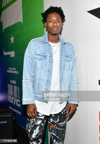 Lucky Daye attends the BET Awards Radio Broadcast Center at Microsoft Theater on June 22 2019 in Los Angeles California