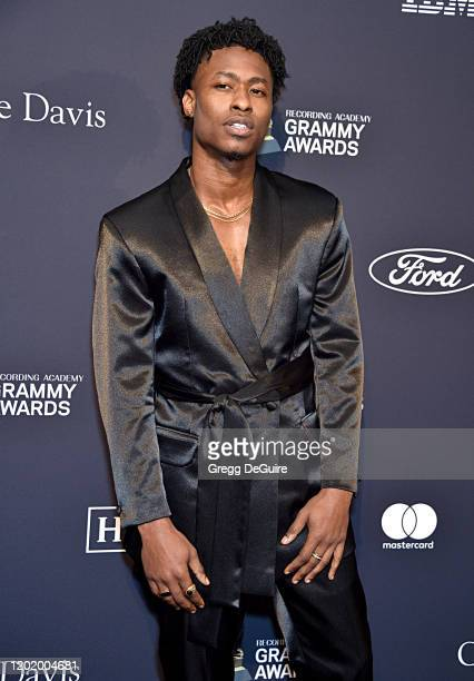 Lucky Daye attends the PreGRAMMY Gala and GRAMMY Salute to Industry Icons Honoring Sean Diddy Combs on January 25 2020 in Beverly Hills California
