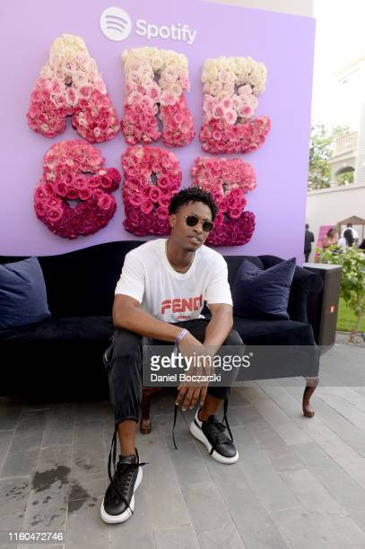 Lucky Daye attends the Spotify House Of Are Be Black Girl Magic Day Party on July 06 2019 in New Orleans Louisiana