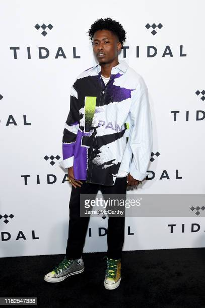 Lucky Daye attends the TIDAL's 5th Annual TIDAL X Benefit Concert TIDAL X Rock The Vote At Barclays Center at Barclays Center of Brooklyn on October...