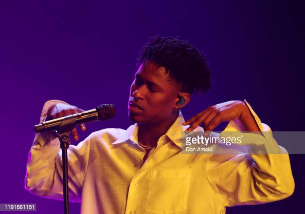 Lucky Daye performs at Qudos Bank Arena on December 04 2019 in Sydney Australia