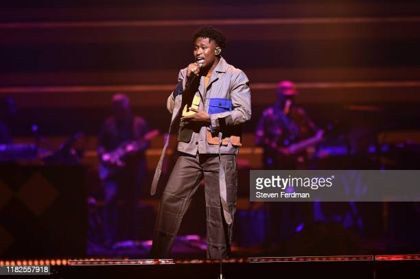 Lucky Daye performs during the TIDAL's 5th Annual TIDAL X Benefit Concert TIDAL X Rock The Vote At Barclays Center Show at Barclays Center of...