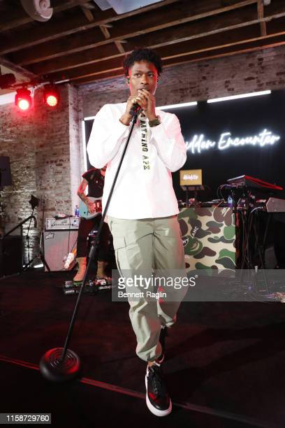 Lucky Daye performs onstage as Montblanc and BAPE celebrate a Limited Edition Collaboration on June 27 2019 in New York City