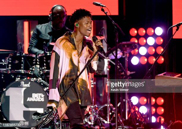 Lucky Daye performs onstage at the 2019 BET Awards on June 23 2019 in Los Angeles California