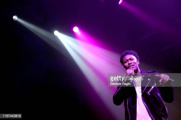 Lucky Daye performs onstage during the BET Experience Late Night Concert at The Novo by Microsoft on June 20 2019 in Los Angeles California
