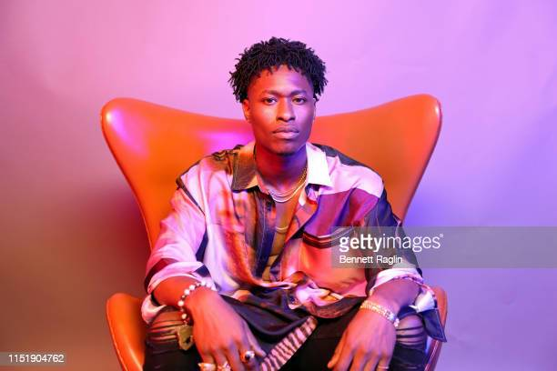 Lucky Daye poses for a portrait during the BET Awards 2019 at Microsoft Theater on June 23 2019 in Los Angeles California