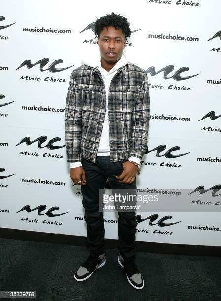 Lucky Daye visits Music Choice on March 12 2019 in New York City