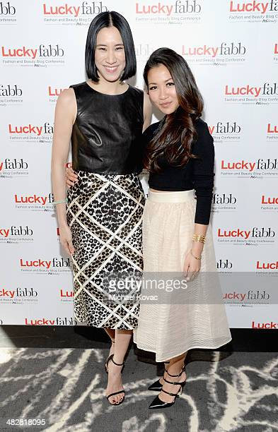 Lucky Editor In Chief Eva Chen and Wendy Nguyen of Wendy's Lookbook attend Lucky FABB Fashion and Beauty Blog Conference presented by PG Day 1 at SLS...