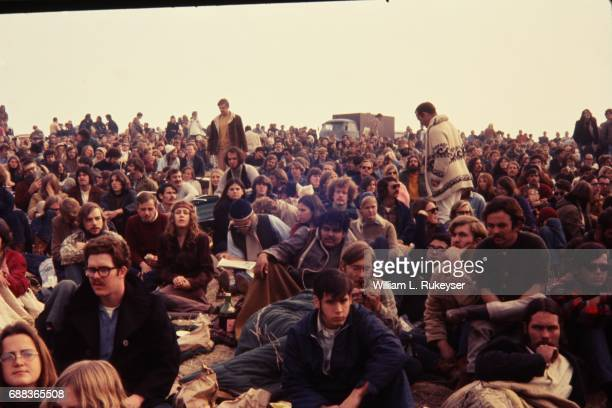 A lucky few were able to drive to the hillside at the Altamont Speedway prior to the free concert headlined by the Rolling Stones