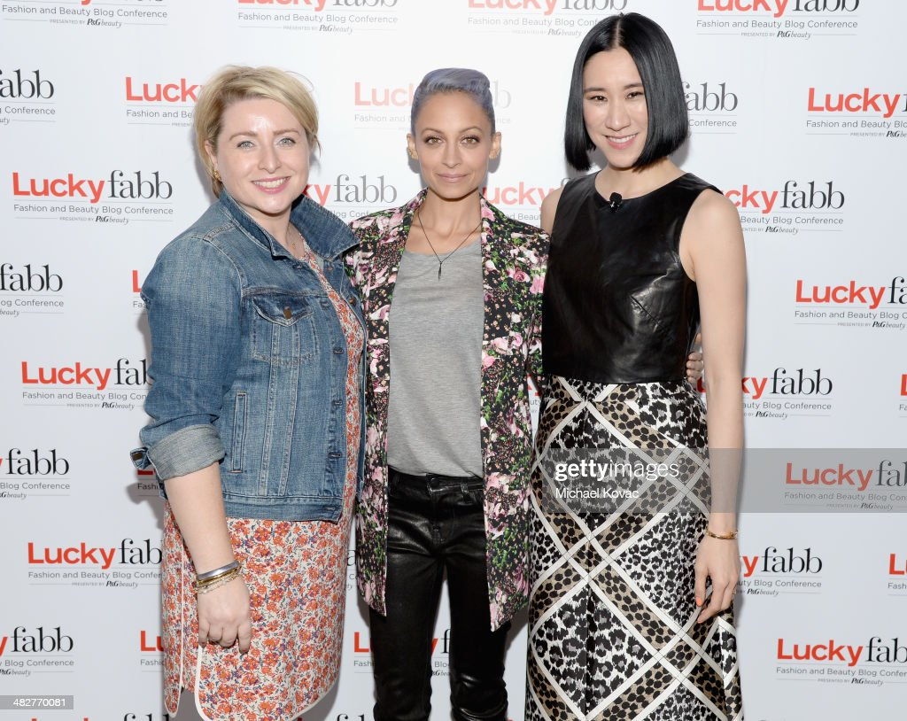 Lucky General Manager and Senior Vice President, Gillian Gorman Round, Actress and Creative Director of House of Harlow 1960, Nicole Richie and Lucky, Editor In Chief, Eva Chen attend Lucky