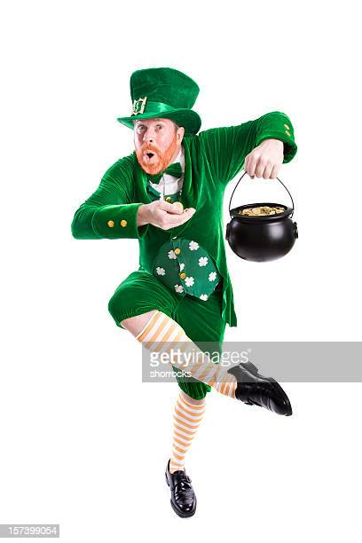 lucky leprechaun - st patricks stock pictures, royalty-free photos & images