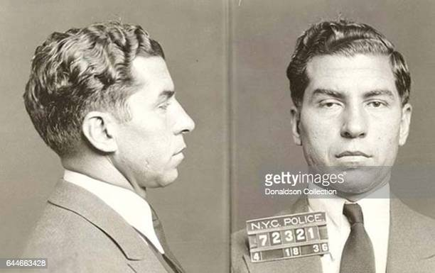 Lucky Luciano mugshot on April 18 1936