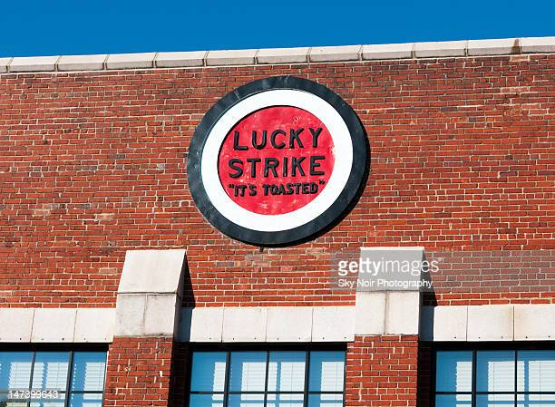 Lucky Strike sign on old cigarette factory - Tobacco Row, downtown Richmond VA.