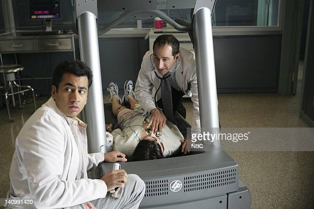 HOUSE 'Lucky Thirteen' Episode 5 Aired Pictured Kal Penn as Dr Lawrence Kutner Angela Gots as Spencer Peter Jacobson as Dr Chris Taub Photo by Adam...