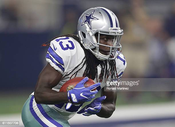 Lucky Whitehead of the Dallas Cowboys at ATT Stadium on September 25 2016 in Arlington Texas