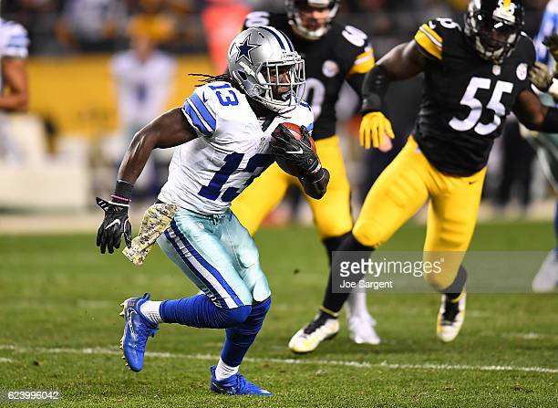 Lucky Whitehead of the Dallas Cowboys in action during the game against the Pittsburgh Steelers at Heinz Field on November 13 2016 in Pittsburgh...