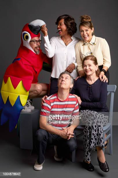 Lucky Yates Aisha Tyler Chris Parnell Jessica Walter and Amber Nash from FXX's 'Archer' pose for a portrait in the Getty Images Portrait Studio...