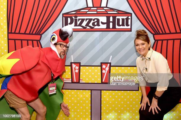 Lucky Yates and Amber Nash from FXX's 'Archer' attends the Pizza Hut Lounge at 2018 ComicCon International San Diego at Andaz San Diego on July 20...
