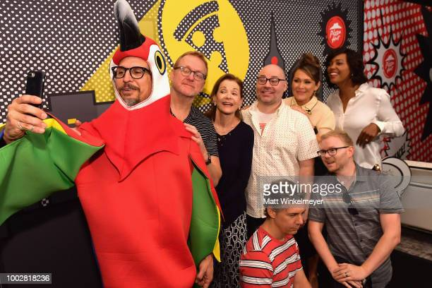 Lucky Yates Matt Thompson Jessica Walter Casey Willis Chris Parnell Amber Nash Chad Hurd and Aisha Tyler of FXX's Archer attend the Pizza Hut Lounge...