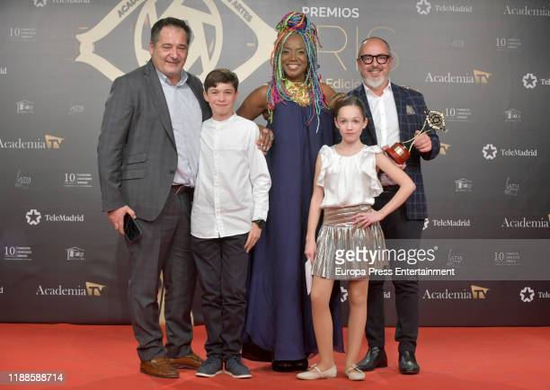 Lucrecia attends 'Iris Academia de Television' awards at Nuevo Teatro Alcala on November 18 2019 in Madrid Spain