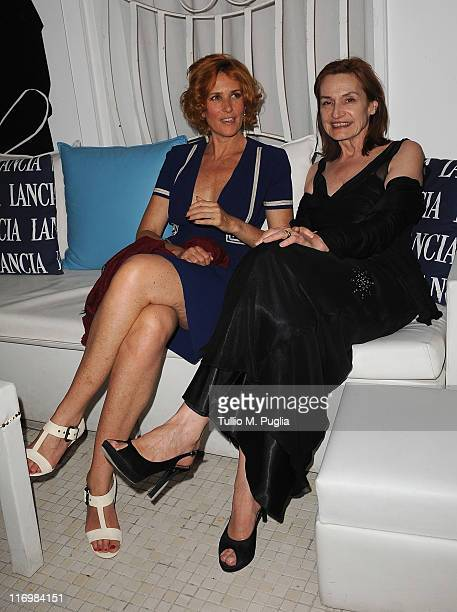 Lucrezia Lante Della Rovere and Deborah Young attend the Giara 57th Taormina Film Fest closing ceremony after gala dinner on June 18 2011 in Taormina...