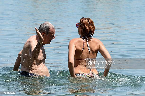 Lucrezia Lante Della Rovere and Erico Lucherini attend the Day 3 of Ischia Global Fest 2013on July 15 2013 in Ischia Italy