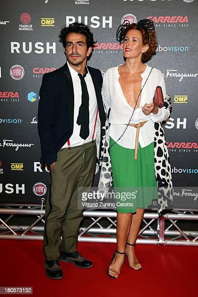 Lucrezia Lante Della Rovere and Francesco Zecca attend 'Rush' The Movie Rome Premiere at Auditorium della Conciliazione on September 14 2013 in Rome...