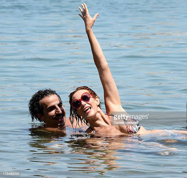 Lucrezia Lante Della Rovere and Francesco Zecca attend the Day 3 of Ischia Global Fest 2013on July 15 2013 in Ischia Italy