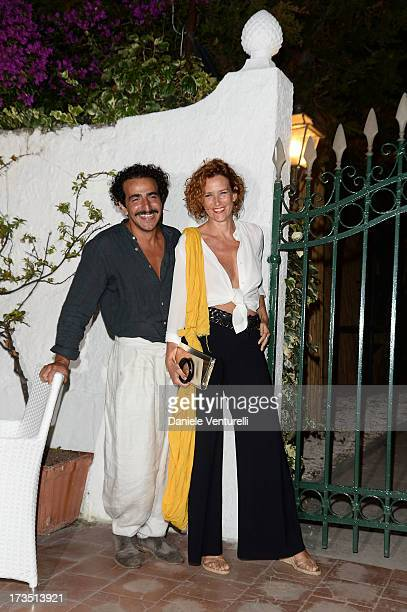 Lucrezia Lante Della Rovere and Francesco Zecca attend the Day 3 of Ischia Global Fest 2013 on July 15 2013 in Ischia Italy