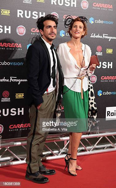 Lucrezia Lante Della Rovere and her boyfriend Francesco Zecca attend the 'Rush' premiere at Auditorium della Conciliazione on September 14 2013 in...