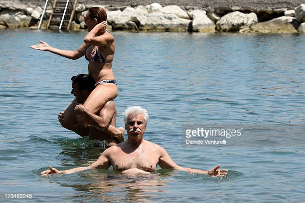 Lucrezia Lante Della Rovere and Michele Placido attends the Day 3 of Ischia Global Fest 2013on July 15 2013 in Ischia Italy