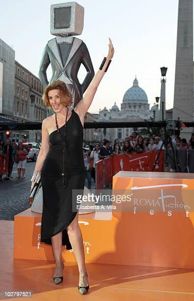 Lucrezia Lante Della Rovere arrives at the Roma Fiction Fest 2010 Ceremony Awards at Auditorium Conciliazione on July 10 2010 in Rome Italy