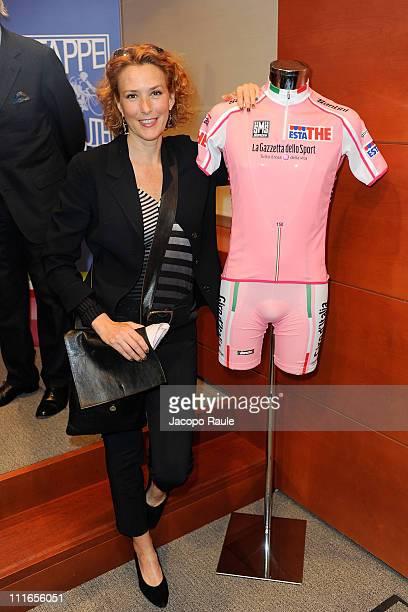Lucrezia Lante della Rovere attends Giro D'Italia And Fondazione Umberto Veronesi Press Conference on April 5 2011 in Milan Italy