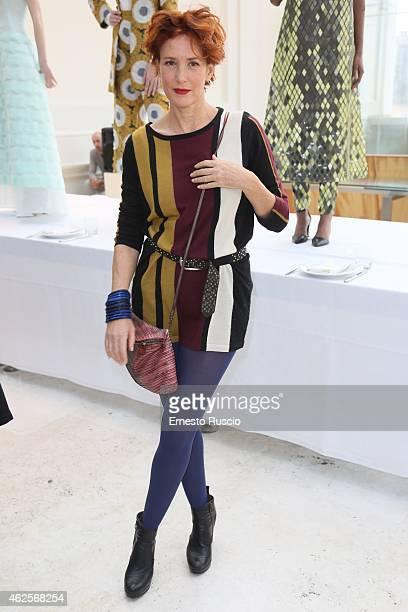 Lucrezia Lante Della Rovere attends the Gattinoni fashion show as a part of AltaRoma 2015 at Palazzo Delle Esposizioni on January 31 2015 in Rome...