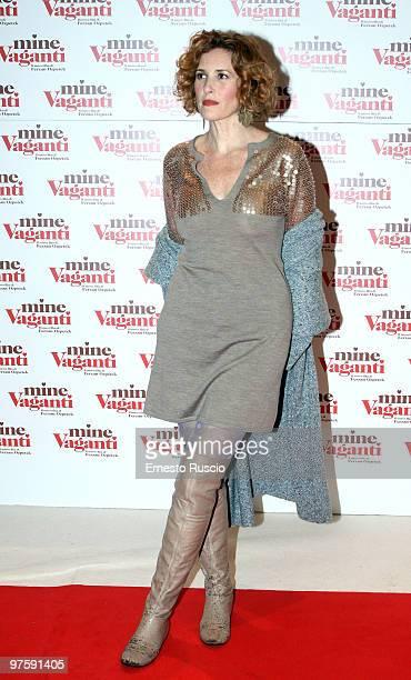 Lucrezia Lante Della Rovere attends the Mine Vaganti premiere at Auditorium Della Conciliazione on March 9 2010 in Rome Italy