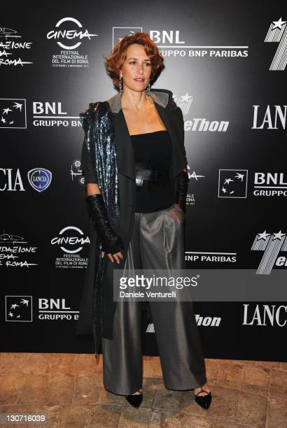 Lucrezia Lante della Rovere attends the Telethon Gala during the 6th International Rome Film Festival at the Casina Valadier on October 28 2011 in...