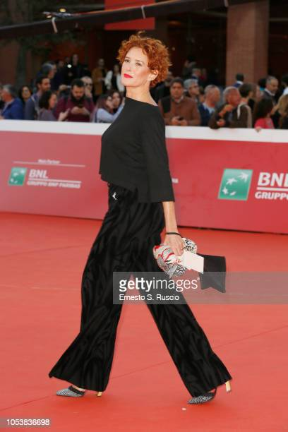 Lucrezia Lante della Rovere walks the red carpet ahead of the La Grande Guerra screening during the 13th Rome Film Fest at Auditorium Parco Della...